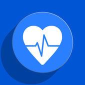 Pulse blue web flat icon — Stock Photo