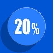 20 percent blue web flat icon — Stock Photo