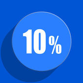 10 percent blue web flat icon — Stock Photo