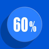 60 percent blue web flat icon — Stock Photo