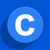 Copyright blue web flat icon — Stock Photo