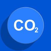 Carbon dioxide blue web flat icon — Stock Photo