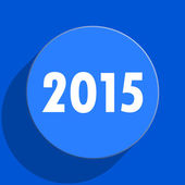 New year 2015 blue web flat icon — Stock Photo