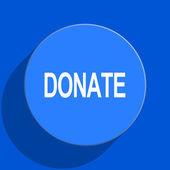 Donate blue web flat icon — Stock Photo