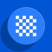 Chess blue web flat icon — Stock Photo