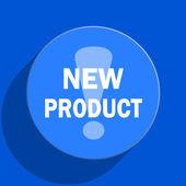 New product blue web flat icon — Stock Photo