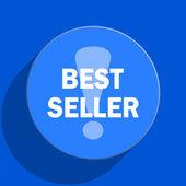 Best seller blue web flat icon — Stock Photo