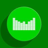 Sound green flat icon — Stock Photo
