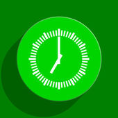 Time green flat icon — Stock Photo