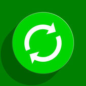 Reload green flat icon — Stock Photo