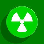 Strahlung grüne flache Symbol — Stockfoto