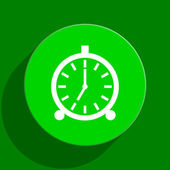 Alarm green flat icon — ストック写真