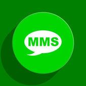 Mms green flat icon — Stock Photo