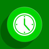 Time green flat icon — Stockfoto