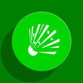 Bomb green flat icon — Stock Photo