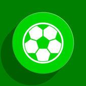 Icono plana fútbol verde — Foto de Stock