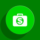 Financial green flat icon — Stock Photo