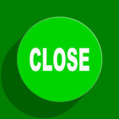 Close green flat icon — Stock Photo