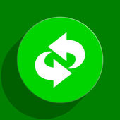 Rotation green flat icon — Stock Photo