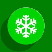 Snow green flat icon — Stock Photo