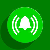 Alarm green flat icon — Stockfoto