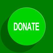 Donate green flat icon — Stock Photo
