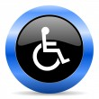 Wheelchair blue glossy icon — Stock Photo #45947247