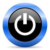 Power blue glossy icon — Stock Photo