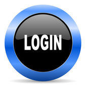Login blue glossy icon — Stock Photo