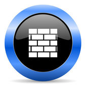Firewall blue glossy icon — Stockfoto