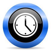 Time blue glossy icon — Stock Photo