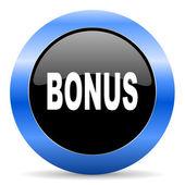 Bonus blue glossy icon — Stock Photo