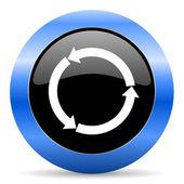 Atualizar o ícone azul brilhante — Fotografia Stock