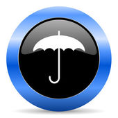Umbrella blue glossy icon — Stockfoto