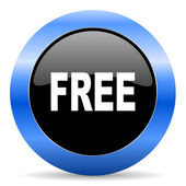 Free blue glossy icon — Stock Photo