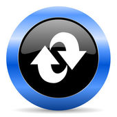 Rotation blue glossy icon — Stock Photo