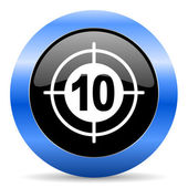 Target blue glossy icon — Stock Photo