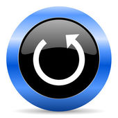 Rotate blue glossy icon — Stock Photo
