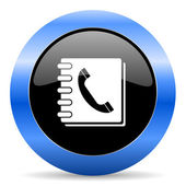 Phonebook blue glossy icon — Stock Photo