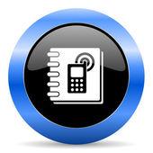 Phonebook blue glossy icon — Stock Photo
