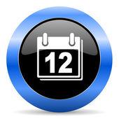Calendar blue glossy icon — Stock Photo