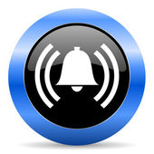 Alarm blue glossy icon — Stock Photo