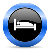 Hotel blue glossy icon — Stock Photo