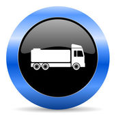 Truck blue glossy icon — Stock Photo
