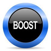 Boost blue glossy icon — Stock Photo