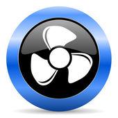 Icona di ventola blu lucido — Foto Stock