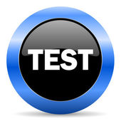 Test blue glossy icon — Stock Photo