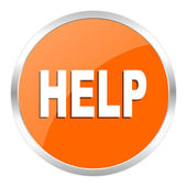 Help orange glossy icon — Stock Photo