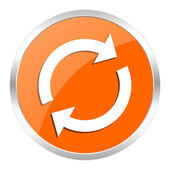 Reload orange glossy icon — Stock Photo