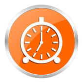 Alarm orange glossy icon — Stock Photo